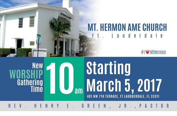 Mt. Herman Invite Flyer Design