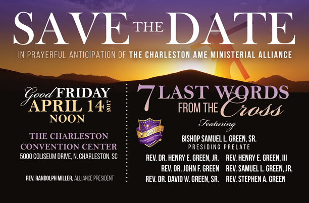 Save the Date 7 Last Words Flyer Design