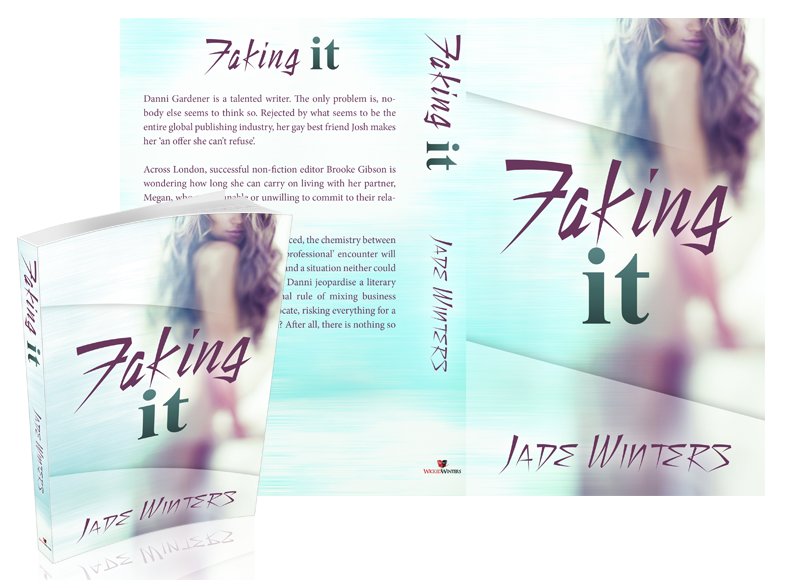Faking It Paperback Book Cover Design