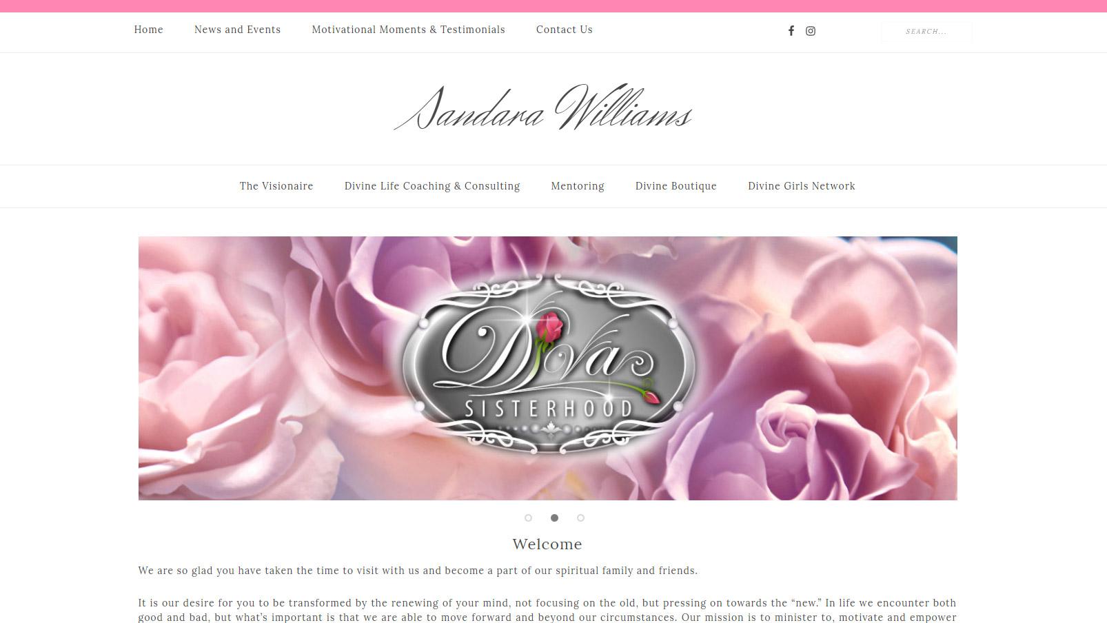 Sandara Williams Website Design